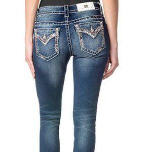 Miss Me Jeans Super Skinny M8985G Sz 27, 29 Inseam